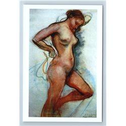 PRETTY WOMAN Graphic Fine Art by Zinaida Serebriakova NUDE New Unposted Postcard