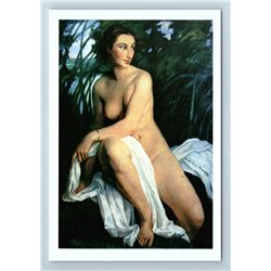 PRETTY WOMAN Bather Fine Art by Zinaida Serebriakova NUDE New Unposted Postcard