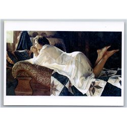 Sexy Lady Woman on the couch Erotic by Steve Hanks NEW MODERN Postcard