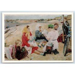 NEWS FROM KOREA Kolkhoz Propaganda Kids Russian Peasant Soviet USSR Postcard