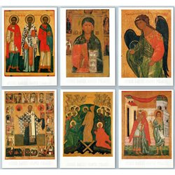 RUSSIAN ICONS Andrei Rublev ORTHODOX CHRISTIANITY Religion Rare Set 15 Postcards