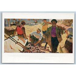 1961 PLUMBERS Workers WATER SUPPLIER Industrial Socialist Soviet USSR Postcard