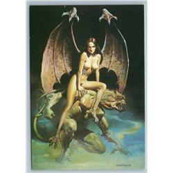 BORIS VALLEJO Incubus Demon Fantasy Nude Girl Erotica Russian postcard