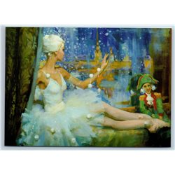 BALLERINA Snowflake Ballet Nutcracker by Vostrezova New Unposted Postcard