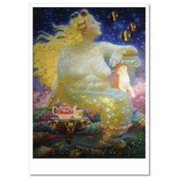 Fantasy Girl Mermaid Plus Size CAT by Nizovtsev NEW Russian Postcard