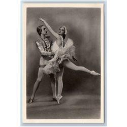 KIRILLOVA & UKHOV in SWAN LAKE Kirov Ballet RPPC Soviet USSR Postcard