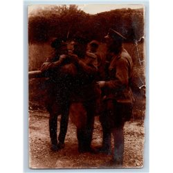 1950s SOVIET MILITARY SOLDIERS light a cigarette Gay Int Russian Soviet photo