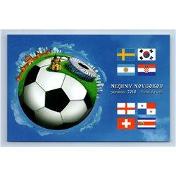 FIFA NIZHNY NOVGOROD Football World CUP Russia 2018 New MODERN postcard