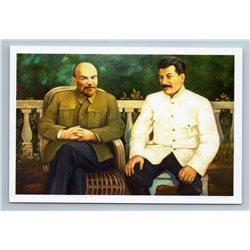 LENIN and STALIN leaders of Soviet Communists Propaganda USSR New Postcard