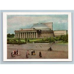 1957 OPERA AND BALLET THEATER Novosibirsk Russia Photo Rare USSR Soviet Postcard