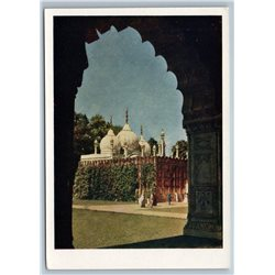1958 INDIA Red Fort in DELHI Real Photo Soviet USSR Postcard