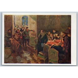 1958 SOVIET REVOLUTION Arrest of Provisional Government Propaganda USSR Postcard