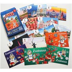FIFA WORLD CUP RUSSIA 2018 Mascot Zabivaka New SET of 16 postcards Official holo