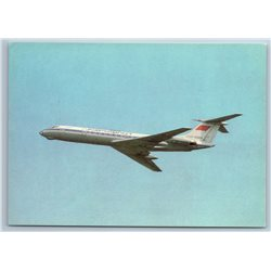 TU-134 AVIATION Aeroflot AIR LINER Plane Craft Fly Flight Soviet USSR Postcard