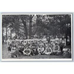 1983 SEMI NUDE People Native Forest Belorussia Camp Russian Photo