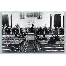 DMITRI SHOSTAKOVICH WWII Rehearsal of orchestra 1977 RPPC Vintage Photo