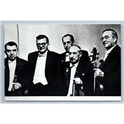DMITRI SHOSTAKOVICH & Beethoven Quartet 1977 RPPC Vintage Photo