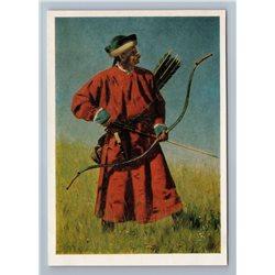 1977 BUKHARA SOLDIER Archer from Uzbekistan Folk by Vereshchagin Art Postcard