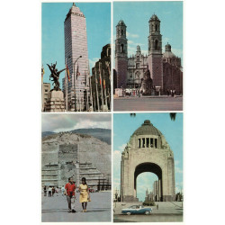 1970 MEXICO Real Photo Architecture Monuments Set of 10 Russian Postcards