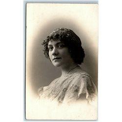 1910's Victorian WOMAN in head tiara Portrait Imperial Russia Antique Postcard
