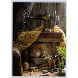 SEWING MACHINE Gramdma's corner Sew Craft New Unposted Postcard