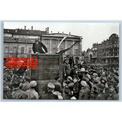 LENIN on TRIBUNE Soviet Communist Leader Western Front 150 anniv NEW Postcard