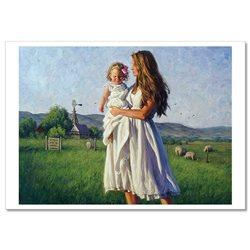 Woman with LITTLE GIRL Maternity Ranch by Robert Duncan Russian Modern Postcard