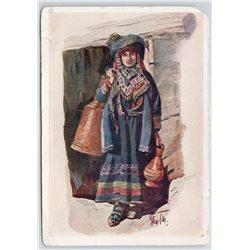 1936 CAUCASIAN TYPES Georgia Caucasus Georgians Khevsurka Ethnic USSR Postcard