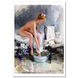 SEXY LADY Woman Semi Nude Erotica FINE ART by Razumov Rusian New Postcard