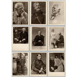 STANISLAVSKI Theater Actor & Director Chinese VERY RARE SET 32 USSR Postcards