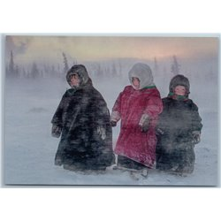 COLD, VERY COLD Little Childs FAR NORTH Tundra Nenets Arctic Russia New Postcard